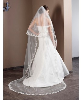 Poirier Veil with lace S50-280/2/MED