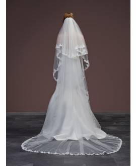 Veil with lace S51-280/2/MED | Poirier