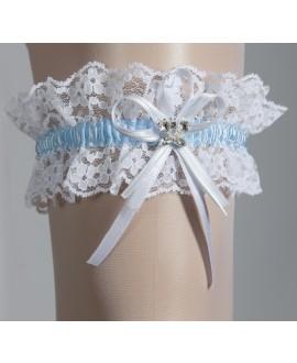 Garter White & Blue