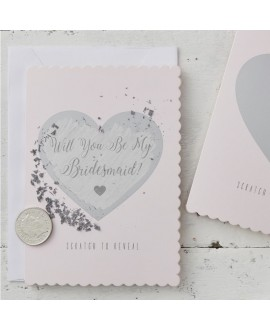 Will You Be My Bridesmaid Cards - Scratch & Reveal
