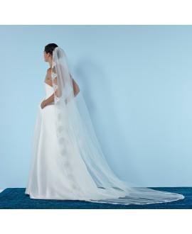 Veil S56 280cm ivory 1 layer | Poirier
