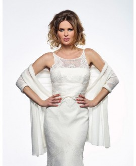 Knitted Bridal Stole S167 Poirier