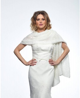 Knitted Bridal Stole S168 Poirier