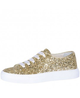 Fiarucci Bridal Wedding Shoes Sneaker Suzan Gold Glitter