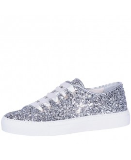 Fiarucci Bridal Wedding Shoes Sneaker Suzan Silver Glitter
