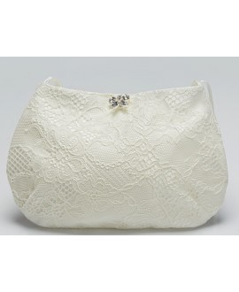 Bridal bag with lace BBCT14