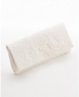 Bridal bag with lace BBCT15