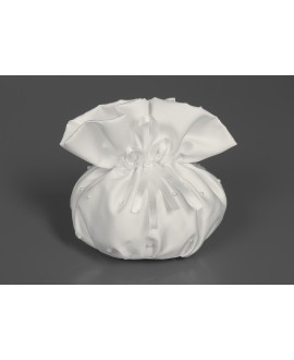 Bride`s bag satin dull