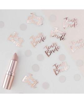 Rose Gold foiled Team Bride Confetti - Team Bride
