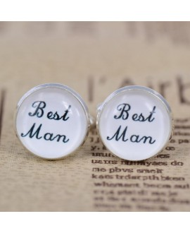 wedding role cufflinks set Best Man