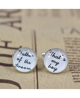 Father of the groom - That's my boy cufflinks