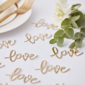 Ginger Ray Gold Wedding Gold Love Table Confetti GO-129