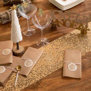 Santex Gold Sequins Table Runner