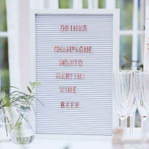 Ginger Ray BR-328 Botanical Wedding Peg Board with Copper Letters