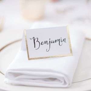 Ginger Ray GO-166 Gold Wedding Place Cards