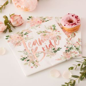 Ginger Ray FH-205 Floral Hen Napkins
