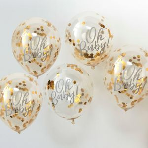 Ginger Ray OB-108 Oh Baby Confetti Balloons