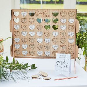 Ginger Ray BR-384 Botanical Wedding Four In A Row Guestbook