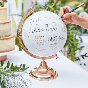 Ginger Ray BR-337 Botanical Wedding Globe Guestbook