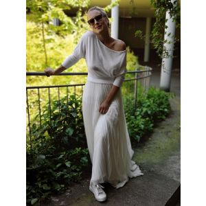 Forever & Eva Bridal Jersey with Bat Sleeves P5302