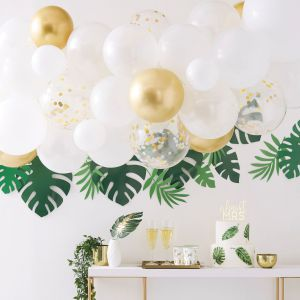 Ginger Ray BS-414 Botanical Hen Gold Chrome Balloon Arch
