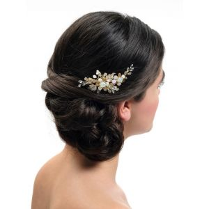 Poirier BB-439 Gold Bridal Hair Comb