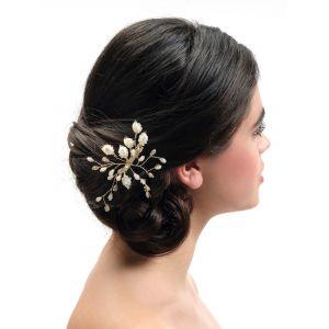 Poirier BB-444 Gold Bridal Hair Clip
