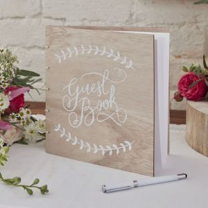 Ginger Ray BH-744 Wooden Guest Book