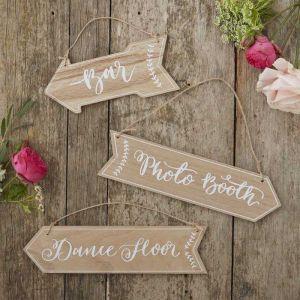Wooden Arrow Signs - Boho