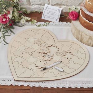 Ginger Ray BH-756 Wooden Jigsaw Guestbook