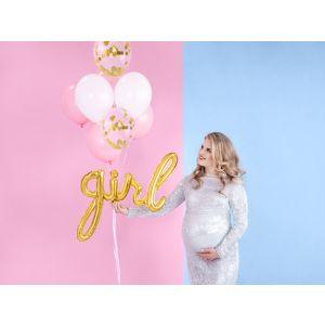Foil Balloon Girl Gold