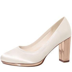 Rainbow Club Clair Rose-Gold Bridal Shoes