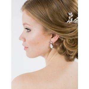 Abrazi O6-OVL-SKT Opal Bridal Earrings