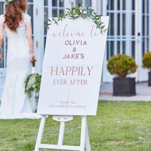 Ginger Ray BR-345 Botanical Wedding Entrance Sign