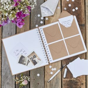 Envelope Guest Book | Rustic Country