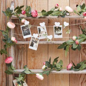 Ginger Ray CW-282 Pink Rose Flower Garland