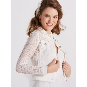 LILLY 09-3805-CR Lace Jacket