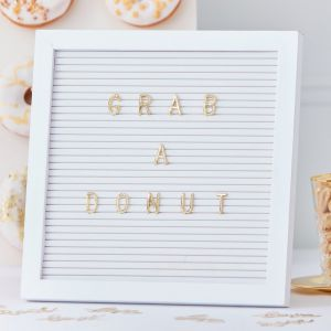 Ginger Ray GO-126 Gold Wedding Peg Board Gold Letters