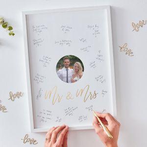 Wedding Mr & Mrs Alternative Guest Book GO-172