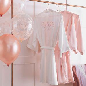 Ginger Ray HN-828 Blush Hen White Dressing Gown