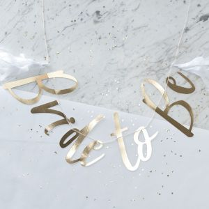 I Do Crew! Gold Foiled Bride To Be Bunting