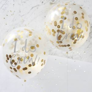 Ginger Ray ID-403 I Do Crew! Confetti Balloons Gold