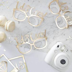 I Do Crew! Gold Foiled Fun Glasses (8pcs)
