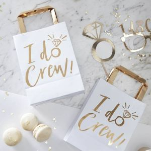 I Do Crew! Gold Foiled Party Bags (5pcs)