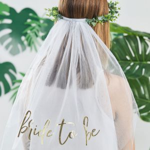 Ginger Ray BS-421 Botanical Hen Bride to Be Veil