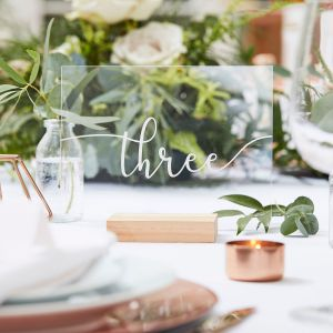 Ginger Ray BR-316 Botanical Wedding Table Numbers