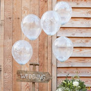 Ginger Ray CW-260 Rustic Country Confetti Balloons