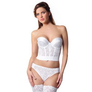 Luxury lace Bustier with low back 237 Poirier