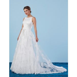 Poirier Bridal Overskirt with lace S301-200