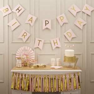Ginger Ray PP-616 Pink Happy Birthday Bunting